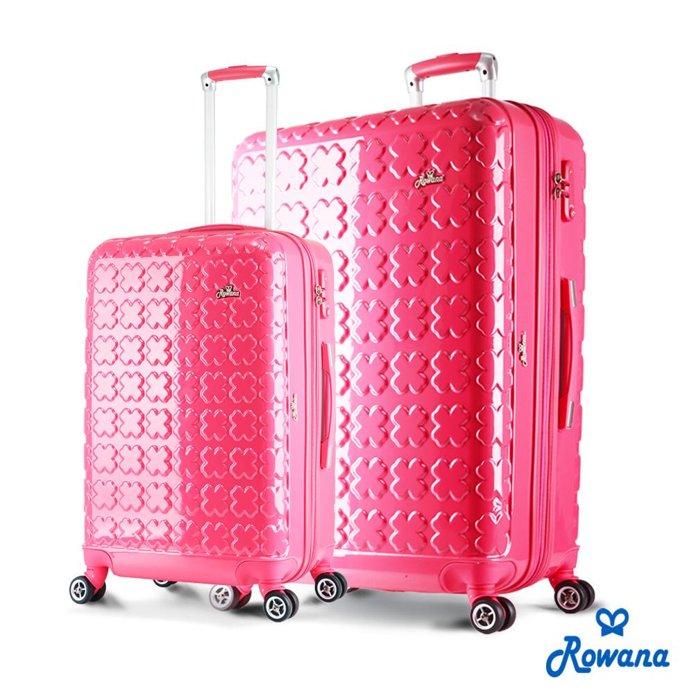 Rowana 繽紛幸運愛 買 量販 店 營業 時間草可加大防爆拉鍊行李箱 24+28吋(甜蜜粉)
