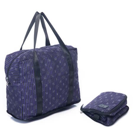 PLAYBOY- Trick 魔幻遊戲系列 摺疊式旅行波士頓包-魔幻紫