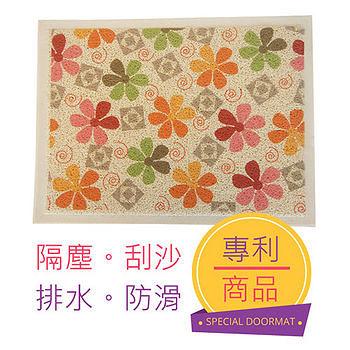 三井溫馨印花刮泥踏墊D-小(44*59cm)
