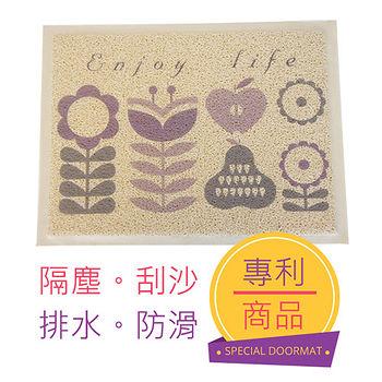 三井溫馨印花刮泥踏墊E-小(44*59cm)
