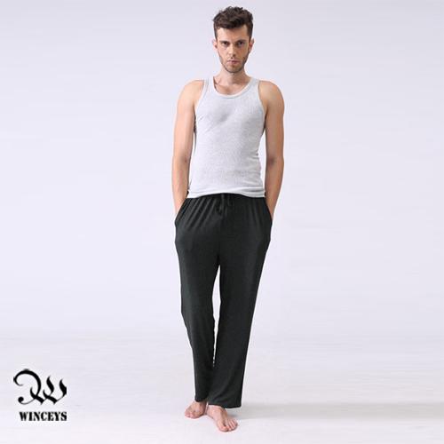 WINCEYS 男舒適柔絲莫代爾休閒長褲~深麻灰