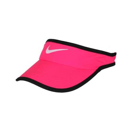 NIKE 運動帽 -中空帽 遮陽 高爾夫 帽子 路跑 慢跑 螢光粉黑 F