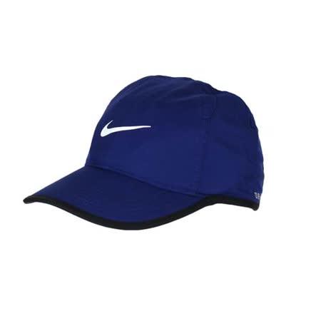 NIKE 運動帽 -路跑 慢跑 帽子 棒球帽 鴨舌帽 防曬 深藍白 F