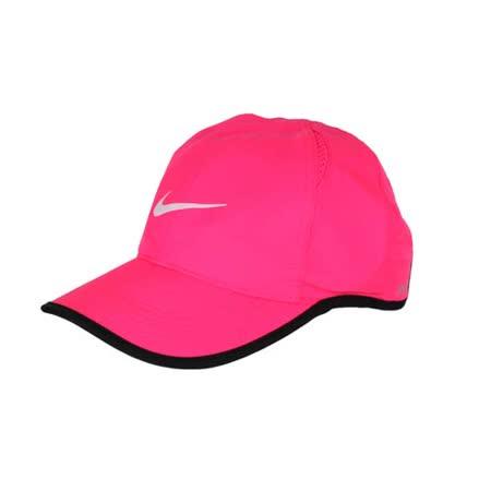 NIKE 運動帽 -路跑 慢跑 帽子 棒球帽 鴨舌帽 防曬 螢光粉黑 F