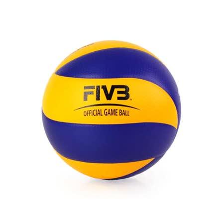 MIKASA 超纖皮製比賽級排球MVA200 - 5號球 FIVB指定球 藍黃 F