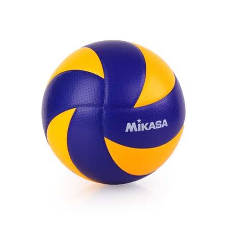 MIKASA 超纖皮製練習型排球MVA300 - 5號球 FIVB指定球 藍黃 F
