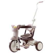 【升級款】日本iimo #02兒童三輪車(折疊款-棕色)