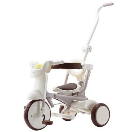 【升級款】日本iimo #02兒童三輪車(折疊款-白色)