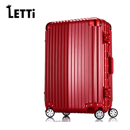 【LETTi】太空鋁行 26吋PC鋁框鏡面行李箱-高台北 太平洋 sogo貴紅