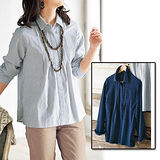 日本Portcros 預購-折縫休閒感棉質襯衫(共二色)