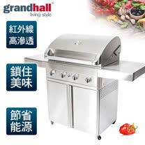 【Grandhall 關中】專業級紅外線BBQ烤肉爐/Grand hall turbo 買就送-SmartCARA 韓國原裝。智慧型卡拉廚餘機/CS-10