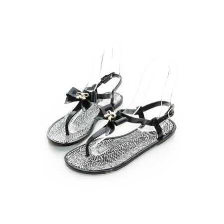 eclair[20205-9]時尚輕便防水果凍涼鞋-黑
