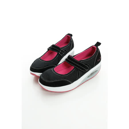 法國pierre cardin[20308-9]魔鬼氈亮色真皮美體鞋-黑
