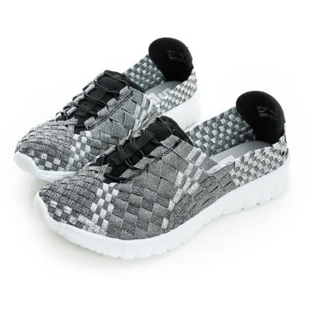 美國OHHO[20408-8]彈麗輕量編織健走鞋-銀
