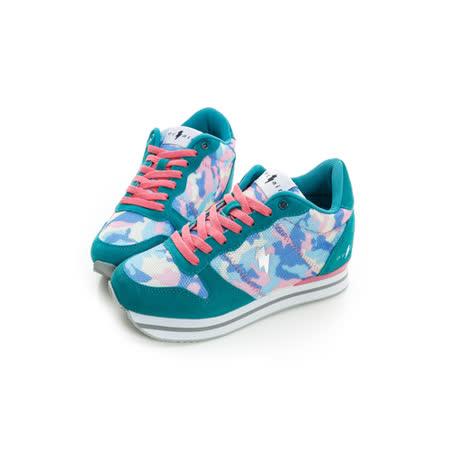 eclair[50011-4]時尚多彩真皮7cm增高鞋-藍
