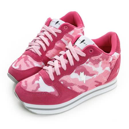 eclair[50011-6]時尚多彩真皮7cm增高鞋-粉