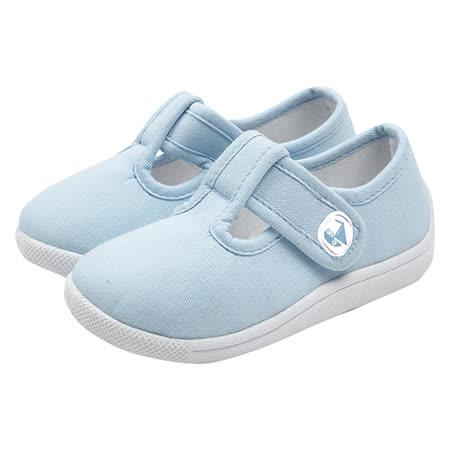 英國 JoJo Maman BeBe 嬰幼兒童帆布鞋/休閒鞋_水藍(JJCV1-001)