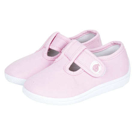 英國 JoJo Maman BeBe 嬰幼兒童帆布鞋/休閒鞋_淡粉(JJCV1-003)