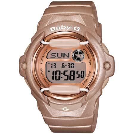 CASIO BABY-G BG-169系列女錶-玫瑰金色澤