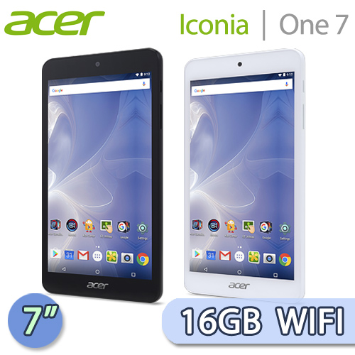 Acer 宏碁 Iconia One 7 16GB WIFI版 (B1-780) 7吋 四核心平板電腦(黑/白)【送acer花苗滾珠按摩器+平板立架+指觸筆】