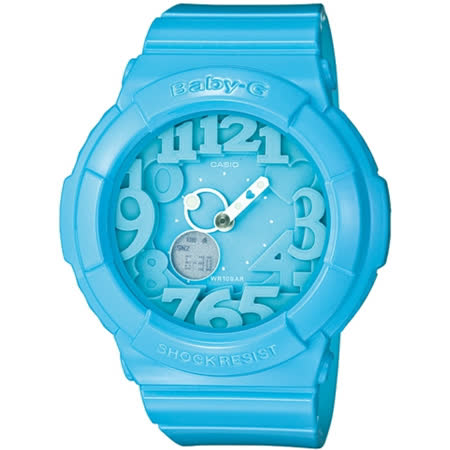 CASIO BABY-G BGA-130霓虹多彩光亮系列女錶-藍