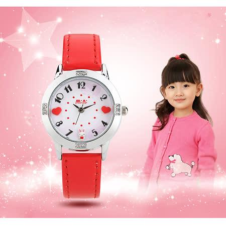 【韓國MINI 】手工軟陶創意手錶-甜蜜兔-紅