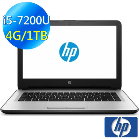 【HP】Notebook 14-am107TX 14吋筆電 刻紋白 (i5-7200U/4G/1TB/M430-2G/win10)  買就送★光學滑鼠☆