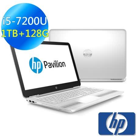 【HP】Pavilion Notebook 15-au167TX 15吋筆電 雪地白 (i5-7200U/8G/1TB+128G/940M-2G/win10) 買就送★光學滑鼠☆