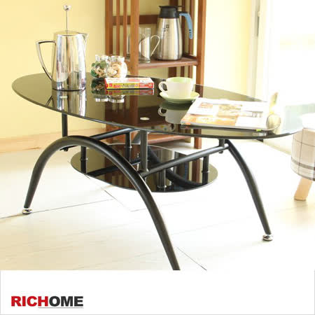 【真心勸敗】gohappy 購物網【RICHOME】時尚簡約強化玻璃茶几桌評價好嗎go happ
