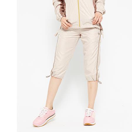 TOP GIRL-羅曼豹紋抗UV輕薄風衣七分褲-卡其金(品特)