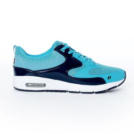 TOP GIRL-運動風異材拼接AIR慢跑運動鞋-淺藍(品特)