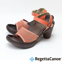 RegettaCanoe-女款-CJBN-5728優雅樂步休閒鞋- 淡橘色