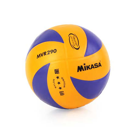 MIKASA 彩膠排球 -5號球 藍橘 F