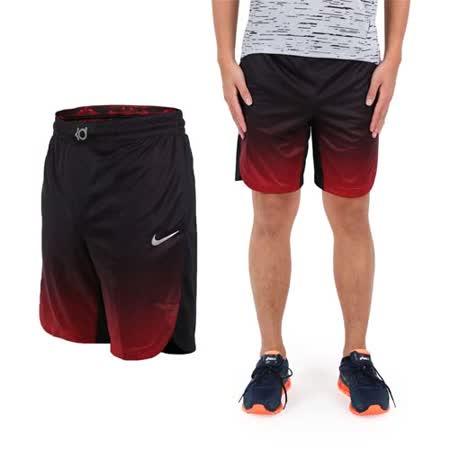 (男) NIKE 針織短褲 -慢跑 路跑 紅黑