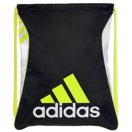 【Adidas】2016時尚Burst爆裂黑黃色抽繩後背包【預購】