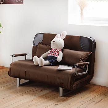 《Peachy life》雙人個性機能皮革沙發床/躺椅/沙發-附抱枕(五色可選)