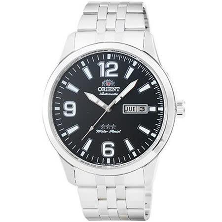 ORIENT 東方 經典大三針機械不鏽腕錶-42mm/FEM7P008B