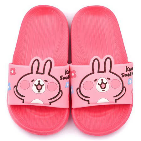 童鞋城堡-卡娜赫拉 中童 超輕量造型款拖鞋KI0508-粉