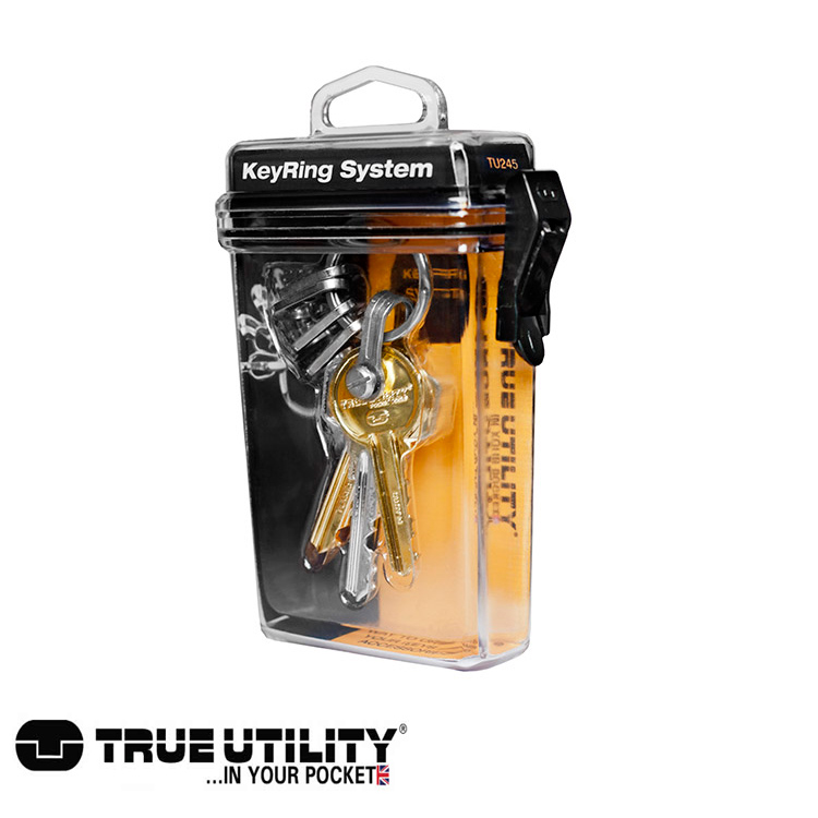 TRUE UTILITY KeyRing System鑰匙圈扣環組城市綠洲 鑰匙圈、方便、鉤環、整理