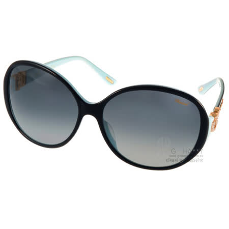 CHOPARD 太陽眼鏡 珠寶簡約氣質款 (黑-水藍) #CP173G 07VL