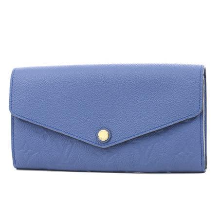 Louis Vuitton LV M41859 Sarah 經典花紋全皮革壓紋扣式長夾(簡稱發財包)_預購