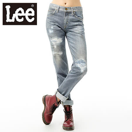 Lee牛仔褲 INKMAX 男友褲(懷舊印刷) LL110003766