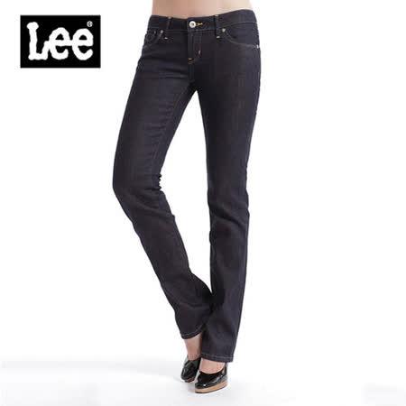 【Lee】簡約有型 Lynn 425合身直筒牛仔褲-女款(深籃)