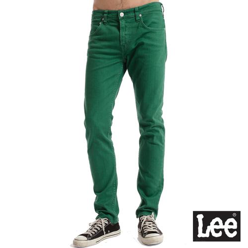 Lee 706合身窄管牛仔褲~男款 綠色