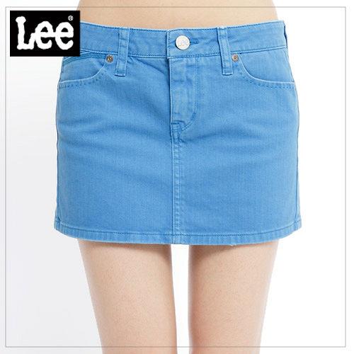 Lee Lee Tropic 熱帶風暴 明豔花招388牛仔短裙~女款^(藍^) LL110