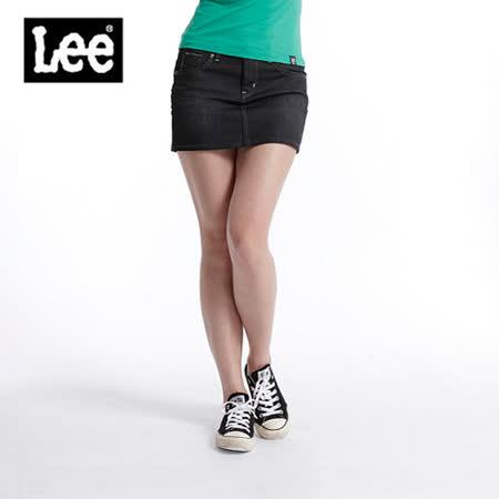 Lee 牛仔褲 牛仔短裙-女款(黑) LL110405084