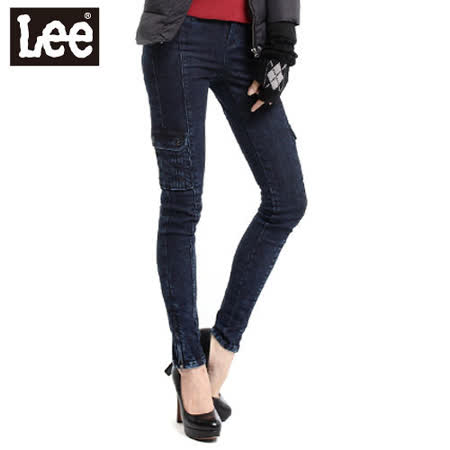 Lee 牛仔褲 時尚剪裁 419 低腰緊身窄管-女款(藍) LL110633072
