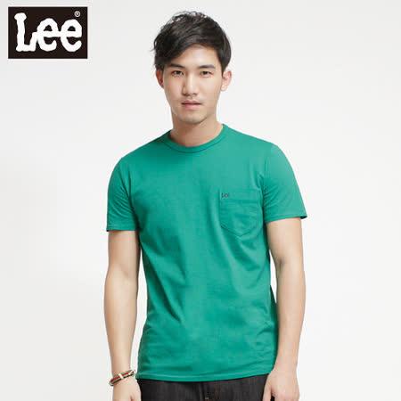 Lee浪花夏日Surf'N Roll素面短袖T恤 -男款 綠