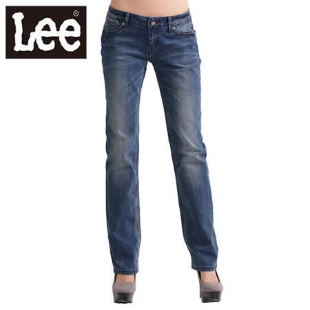 Lee 牛仔褲 425 超低腰合身直筒-女款(二手中藍) LL120368256
