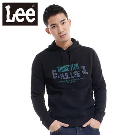 Lee 羽絨外套 年少輕狂輕量連帽-女款(黑)